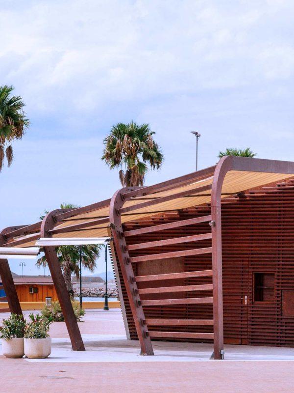 Chiringuito La Moraga, de arquitectura paramétrica en Adra, Almería.