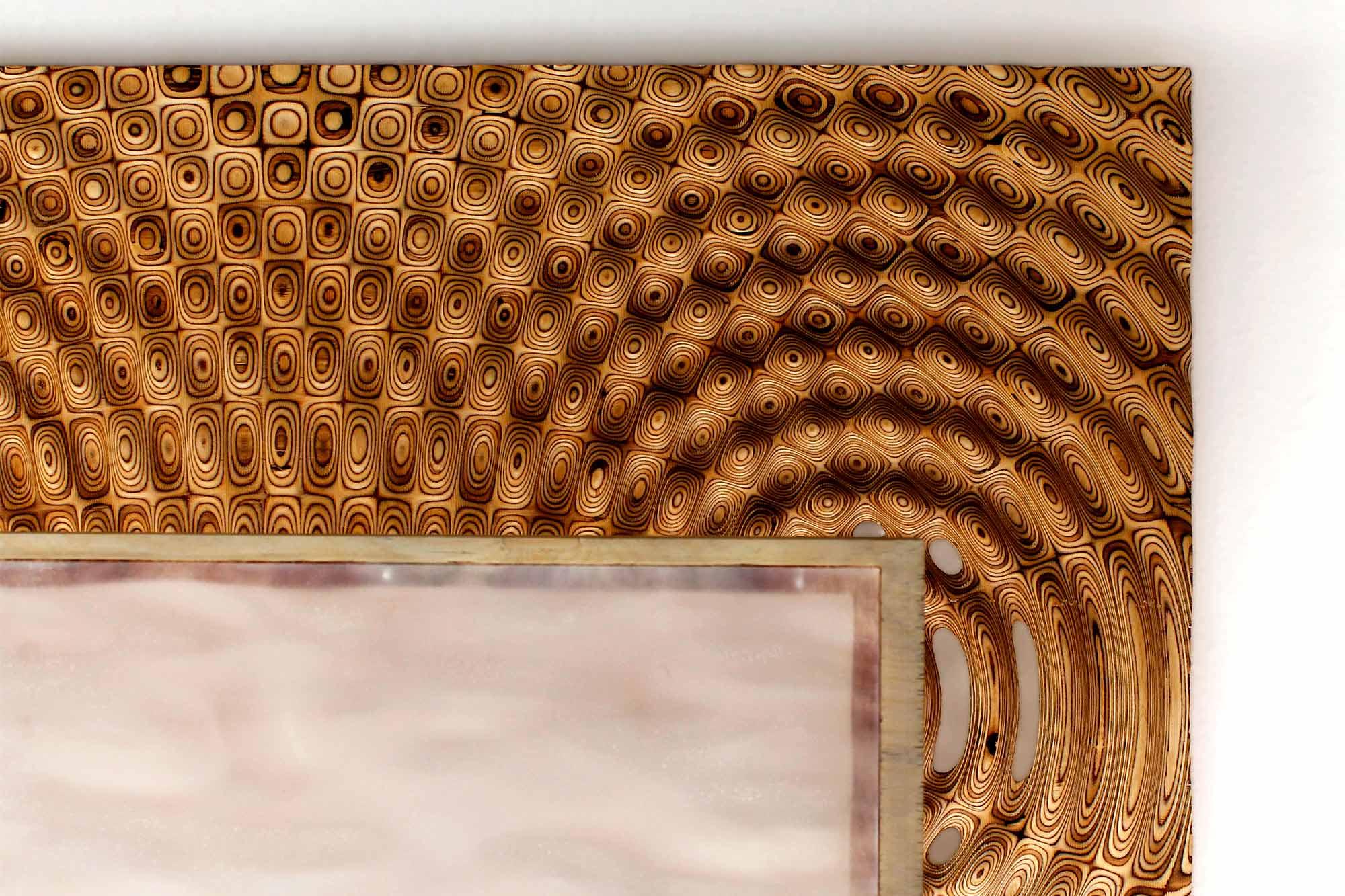 Lámpara WAVEs 1.0 realizada con fabricación digital y diseño paramétrico
