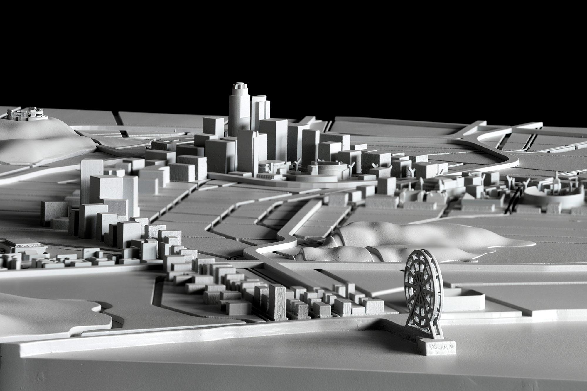 Maqueta Olimpiadas de Los Ángeles 2028 realizada por EXarchitects con impresión 3D