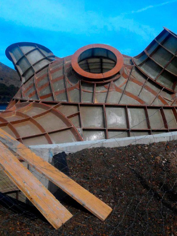 Encofrado perdido paramétrico para la construcción de El Bulli, de Ruiz-Geli, fabricado por RB Composites y EXarchitects