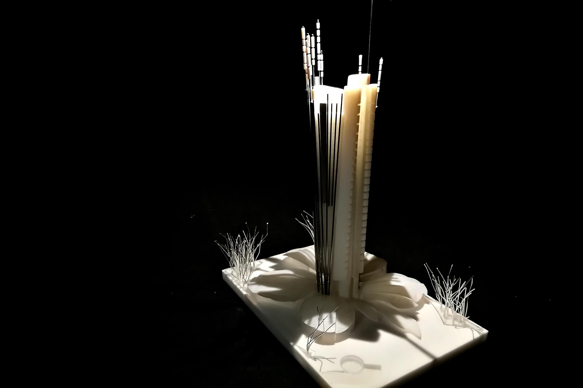 Maqueta de arquitectura realizada con fabricación digital por EXarchitects para Andrés Perea, Elena Suárez y Rafael Torrelo Arquitectos
