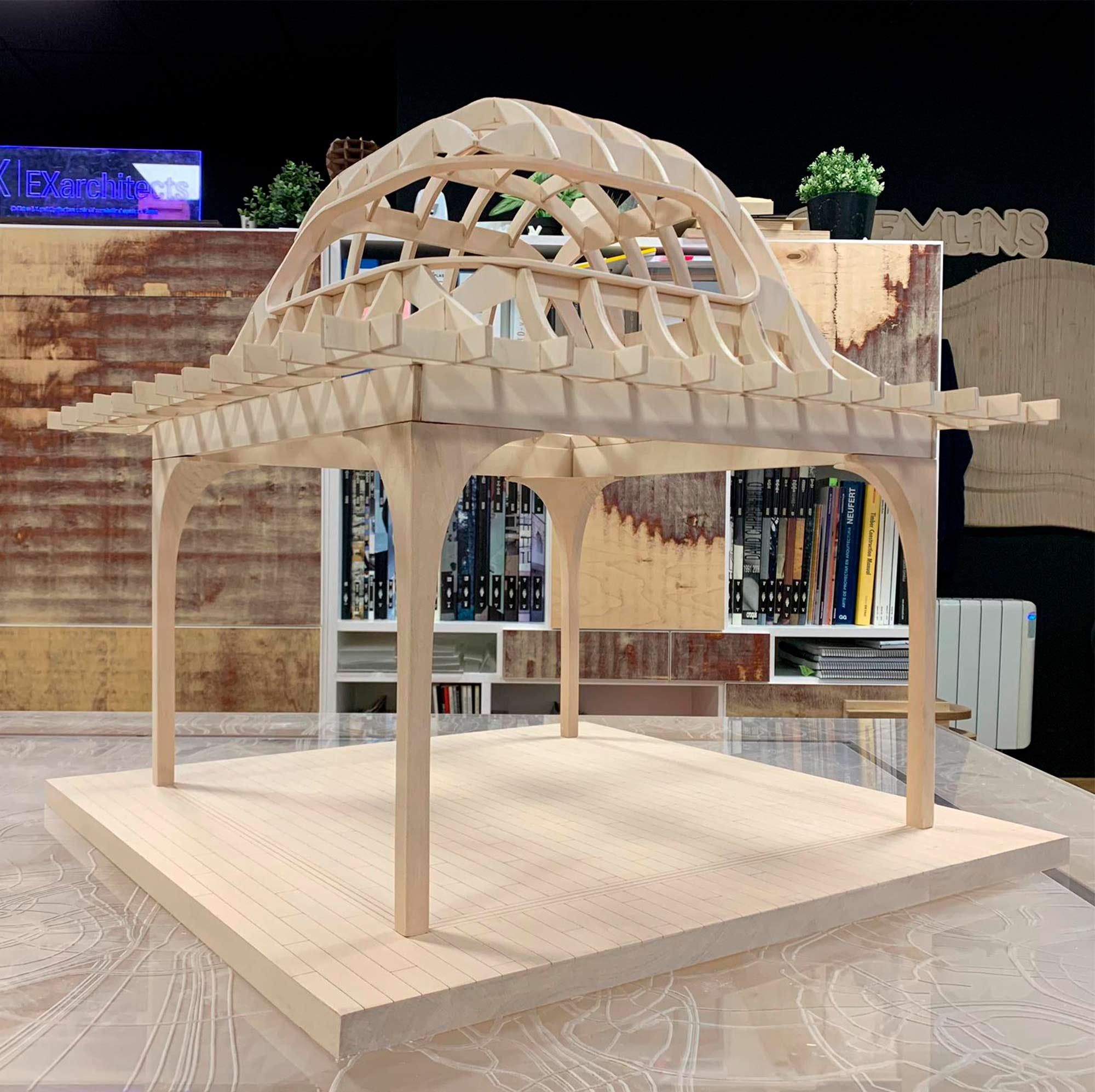 Maqueta constructiva fabricada por EXarchitects para Foster & Partners