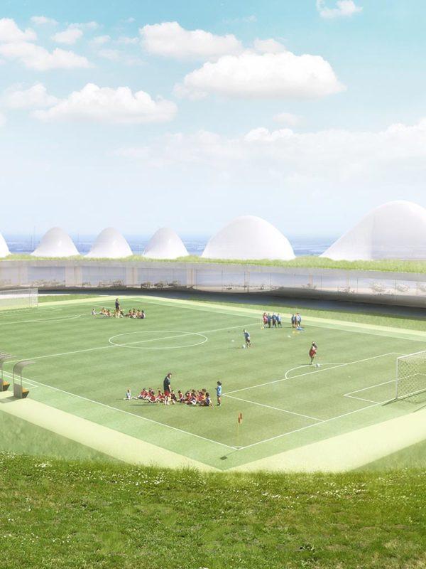 propuesta para sede coorportariva en Adra, Almería, por EXarchitects