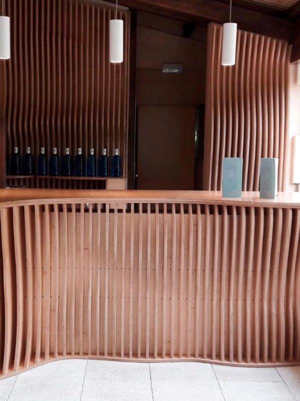 Barra paramétrica para el bar de la sede de Solán de Cabras