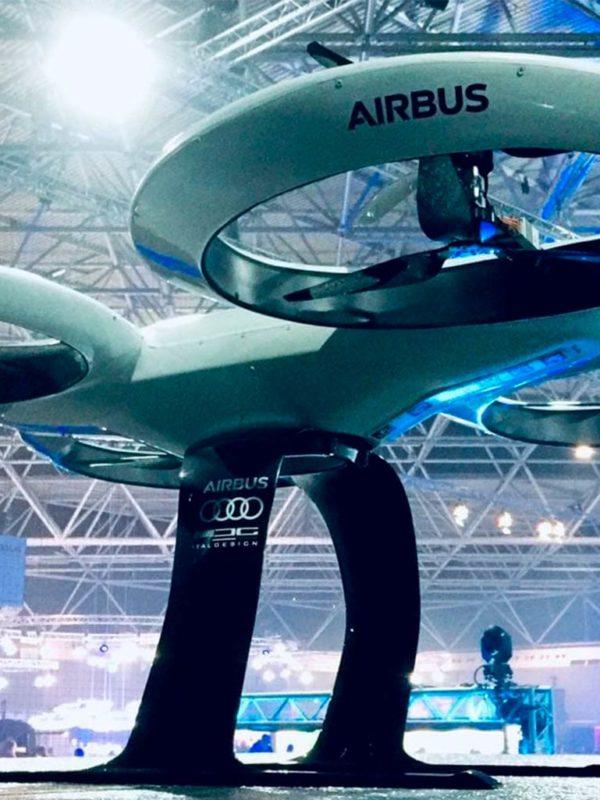 Dron Airbus y Altran, mecanizado en EXarchitects