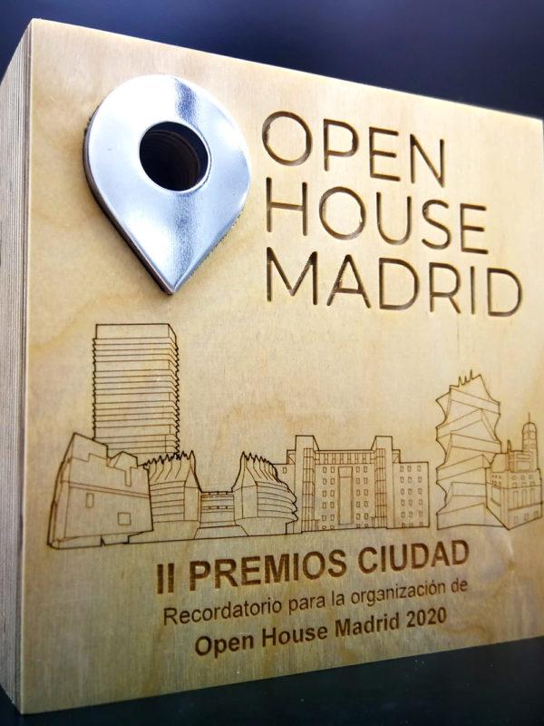 Premio diseñado y fabricado por EXarchitects para Open House Madrid 2020