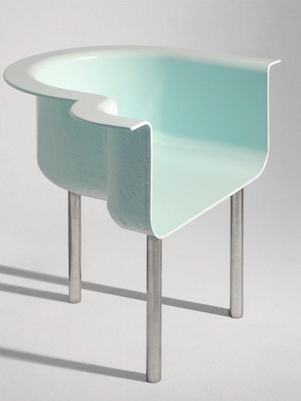 Silla piscina diseñada por Tornasol Studio y fabricada en el fablab de EXarchitects