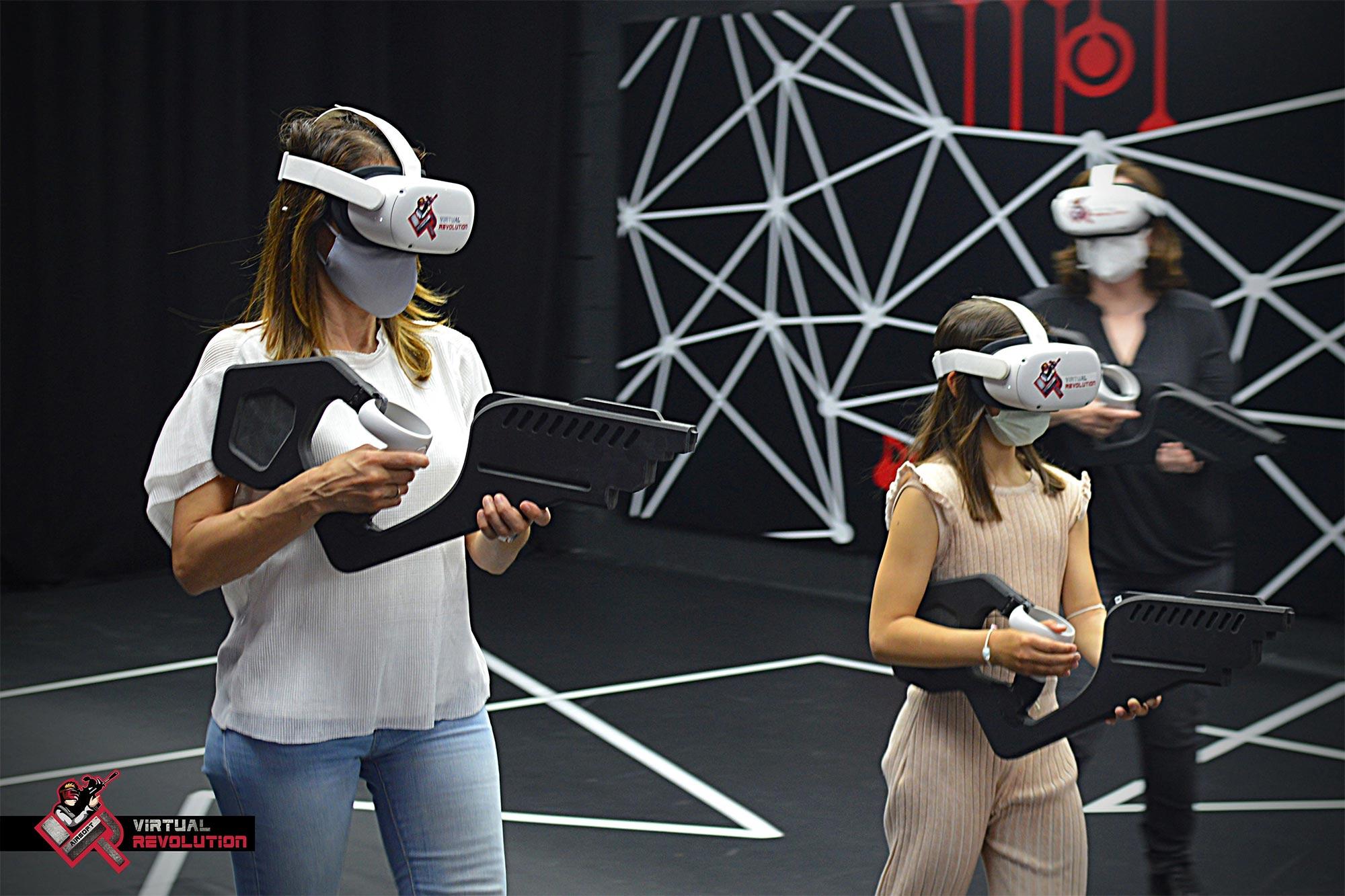Pistolas (juguete) realidad virtual, para VR AIRSOFT_ EXarchitects