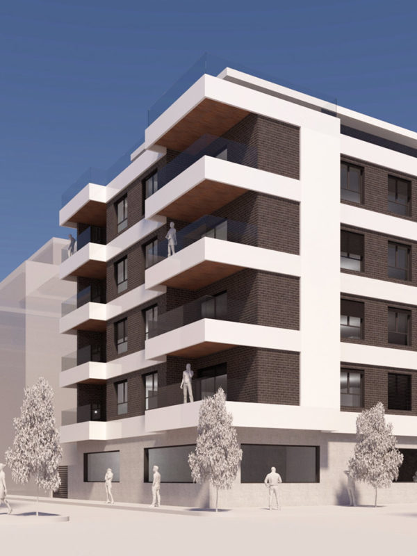 Edificio residencial en calle El Mundo 15 en Adra, diseñado EXarchitects